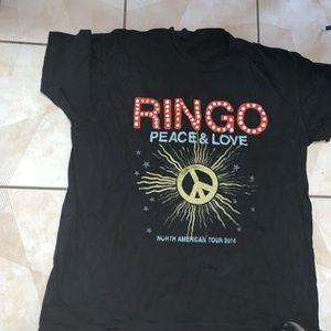 Ringo Starr Peace Love Tour Shirt The Beatles